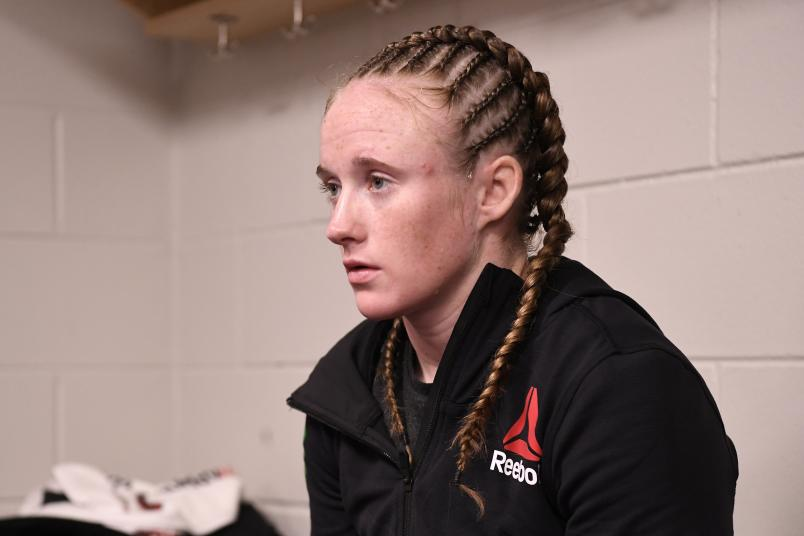 JJ Aldrich waits backstage during the UFC Fight Night event at Amalie Arena on October 12, 2019 in Tampa, Florida. (Photo by Mike Roach/Zuffa LLC)