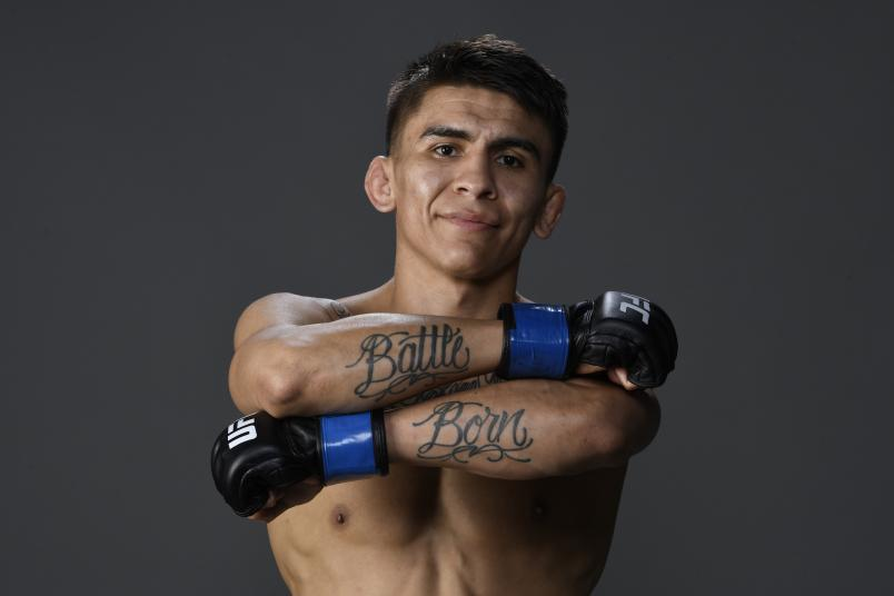 Mario Bautista poses for a portrait backstage during the UFC 247 event at Toyota Center on February 08, 2020 in Houston, Texas. (Photo by Mike Roach/Zuffa LLC via Getty Images)