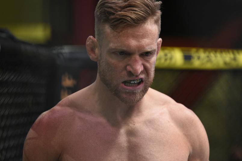 Scott Holtzman prepares to fight Beneil Dariush in their lightweight fight during the UFC Fight Night event at UFC APEX on August 08, 2020 in Las Vegas, Nevada. (Photo by Chris Unger/Zuffa LLC)
