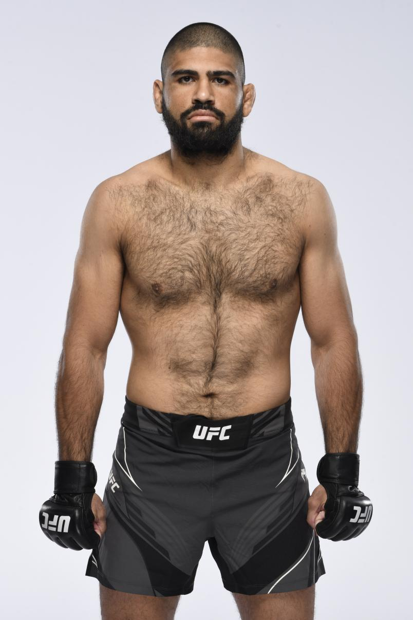 Jacob Malkoun poses for a portrait during a UFC photo session on April 14, 2021 in Las Vegas, Nevada. (Photo by Mike Roach/Zuffa LLC)