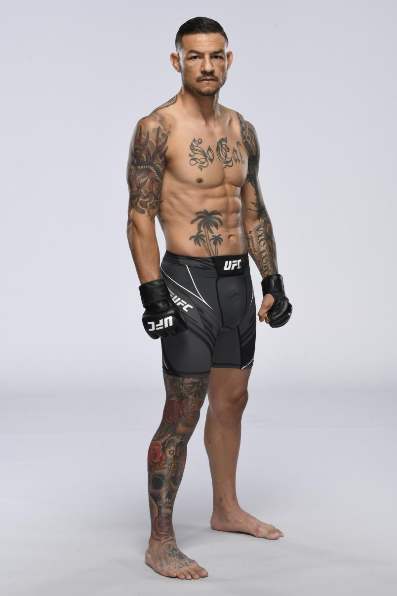 Cub Swanson poses for a portrait during a UFC photo session on April 28, 2021 in Las Vegas, Nevada. (Photo by Mike Roach/Zuffa LLC)