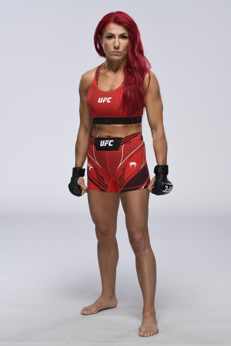 Randa Markos poses for a portrait during a UFC photo session on April 28, 2021 in Las Vegas, Nevada. (Photo by Mike Roach/Zuffa LLC)