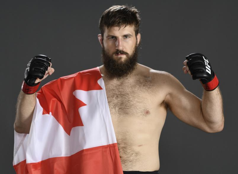 Tanner Boser of Canada poses for a portrait after his victory during the UFC Fight Night event inside Flash Forum on UFC Fight Island on July 26, 2020 in Yas Island, Abu Dhabi, United Arab Emirates. (Photo by Mike Roach/Zuffa LLC)