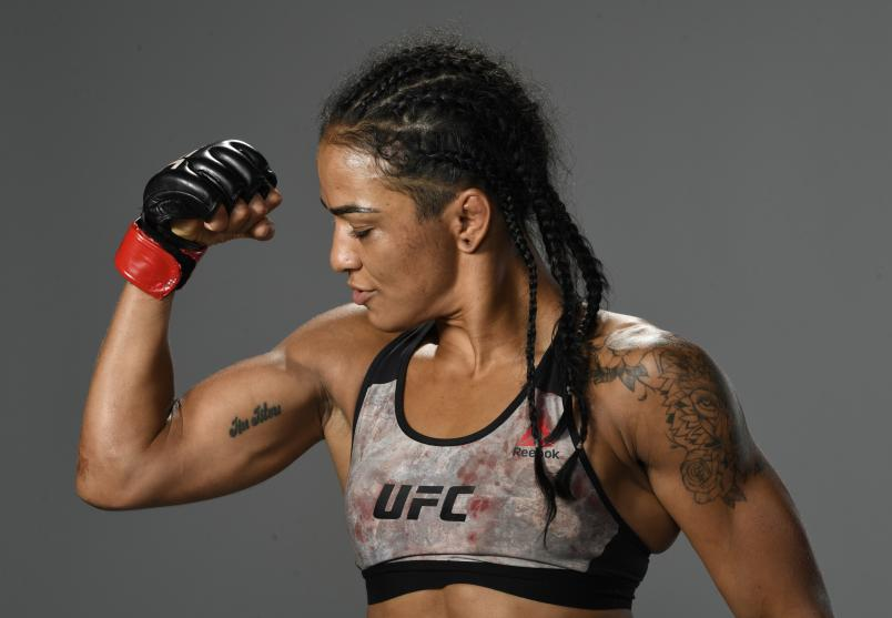 Viviane Araujo of Brazil poses for a portrait after her victory during the UFC Fight Night event at UFC APEX on September 05, 2020 in Las Vegas, Nevada. (Photo by Mike Roach/Zuffa LLC)