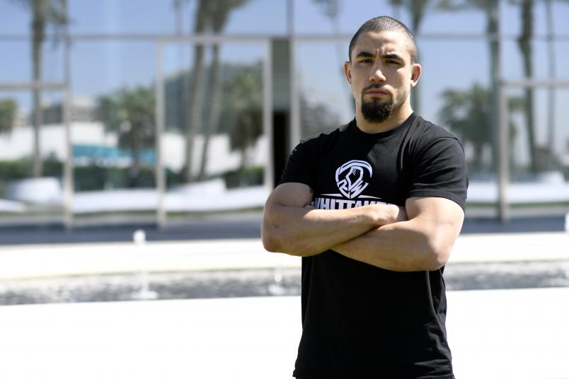 Robert Whittaker poses for a portrait outside the W Yas Island hotel on October 21, 2020 on UFC Fight Island, Abu Dhabi, United Arab Emirates. (Photo by Mike Roach/Zuffa LLC)