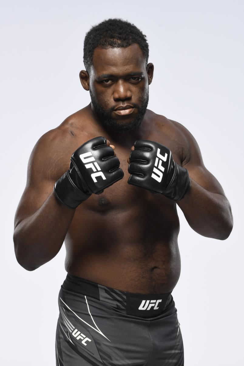 Tafon Nchukwi poses for a portrait during a UFC photo session on May 5, 2021 in Las Vegas, Nevada. (Photo by Mike Roach/Zuffa LLC).