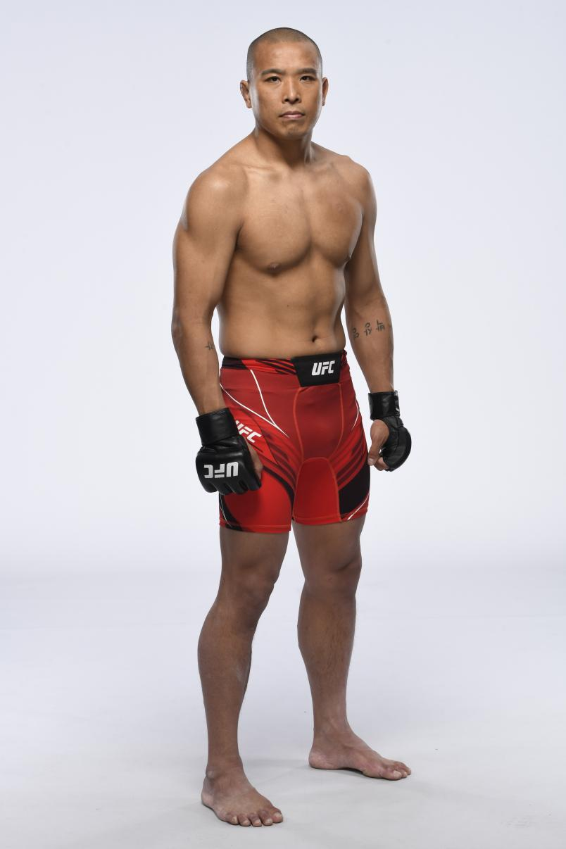 Park Junyong poses for a portrait during a UFC photo session on May 5, 2021 in Las Vegas, Nevada. (Photo by Mike Roach/Zuffa LLC)
