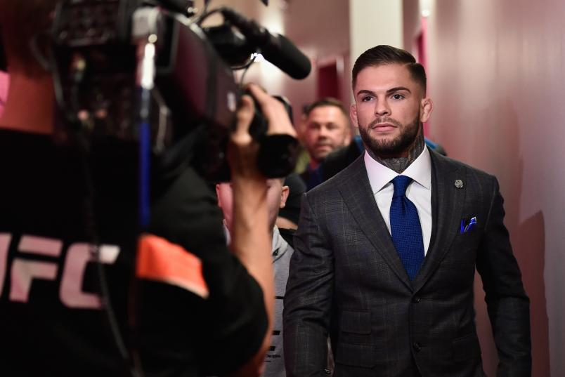 Cody Garbrandt enters the arena during the UFC 207 event at T-Mobile Arena on December 30, 2016 in Las Vegas, Nevada