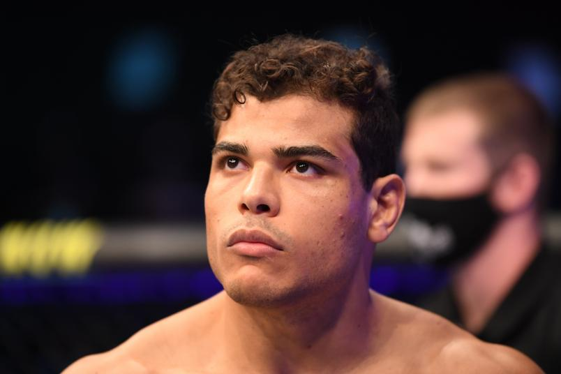 Paulo Costa of Brazil stands in his corner prior to facing Israel Adesanya of Nigeria in their middleweight championship bout during UFC 253 inside Flash Forum on UFC Fight Island on September 27, 2020 in Abu Dhabi, United Arab Emirates. (Photo by Josh Hedges/Zuffa LLC)