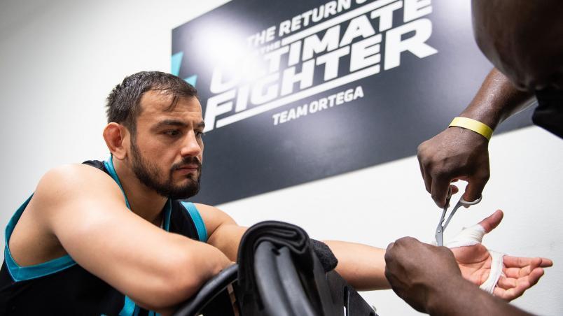 Kemran Lachinov of Team Ortega prepares for his fight again Bryan Battle on The Return of The Ultimate Fighter. (Chris Unger/Zuffa LLC)