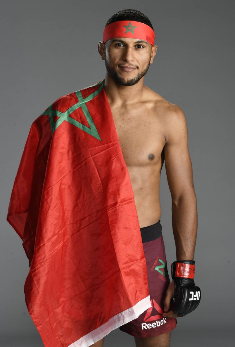 Youssef Zalal of Morocco poses for a portrait after his victory during the UFC Fight Night event at UFC APEX on August 08, 2020 in Las Vegas, Nevada. (Photo by Mike Roach/Zuffa LLC)