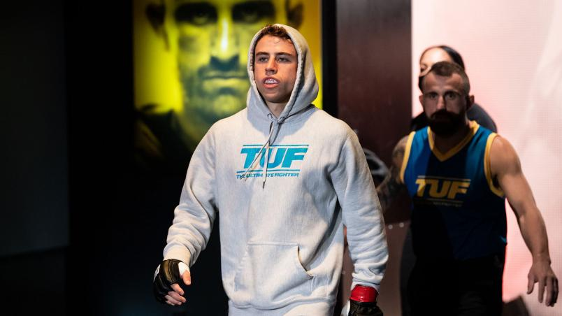 Bantamweight Brady Hiestand prepares for his fight against Josh Rettinghouse on The Return of The Ultimate Fighter. (Photo by Chris Unger/Zuffa LLC)