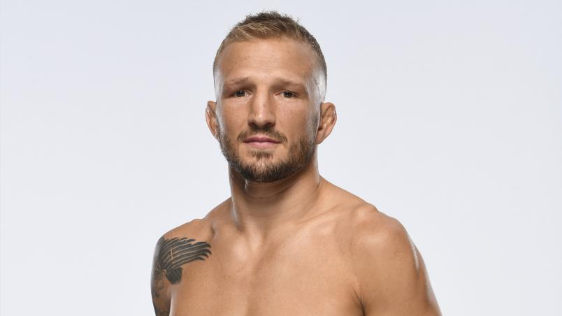 TJ Dillashaw poses for a portrait during a UFC photo session inside UFC APEX on July 21, 2021 in Las Vegas, Nevada. (Photo by Mike Roach/Zuffa LLC)