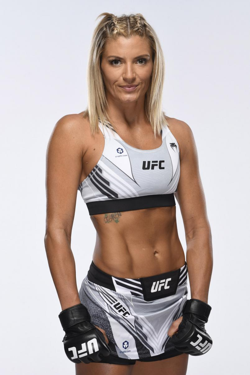 Ashley Yoder poses for a portrait during a UFC photo session on July 29, 2021 in Las Vegas, Nevada. (Photo by Mike Roach/Zuffa LLC via Getty Images)