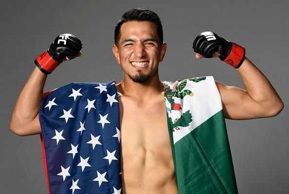 Adrian Yanez poses for a portrait after his victory during the UFC Fight Night event at UFC APEX on October 31, 2020 in Las Vegas, Nevada. (Photo by Mike Roach/Zuffa LLC)