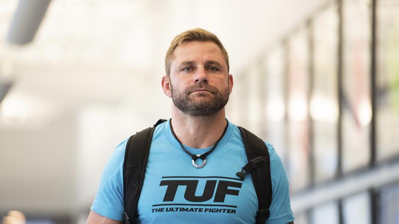 Michael Gilmore enters the UFC APEX on The Return Of The Ultimate Fighter (photo by Chris Unger/ Zuffa LLC)