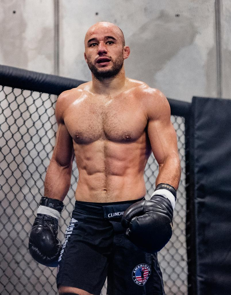 Marlon Moraes trains at American Top Team in Coconut Creek, Florida, on June 29, 2021. (Photo by Zac Pacleb)