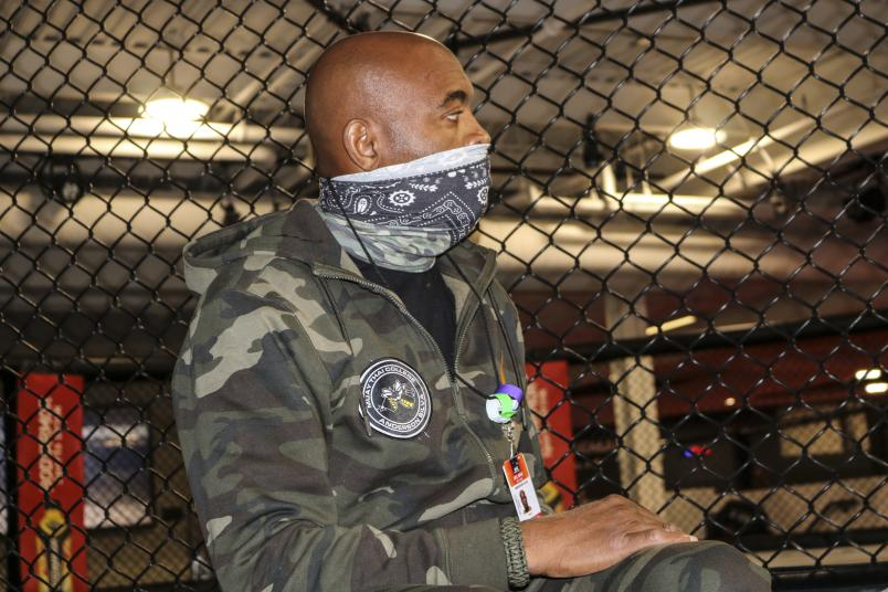 Anderson Silva training at the UFC PI during UFC Vegas 12 fight week