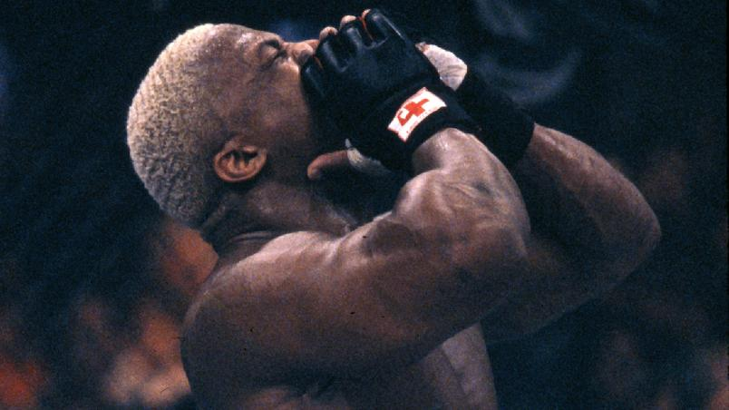 BAY SAINT LOUIS, MS - MARCH 05:  Kevin Randleman in the Octagon prior to his bout with Maurice Smith at UFC 19 at Casino Magic on March 5, 1999 in Bay St. Louis, Mississippi.  (Photo by Josh Hedges/Zuffa LLC/Zuffa LLC via Getty Images)