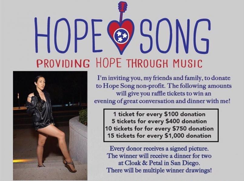 Jessica Penne fundraiser HopeMusic