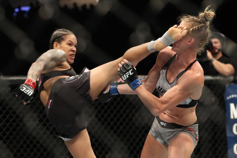 Amanda Nunes of Brazil knocks out Holly Holm