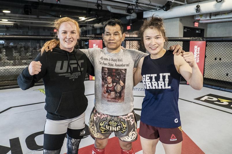 Valentina Shevchenko and Weili Zhang at the UFC Performance Institute