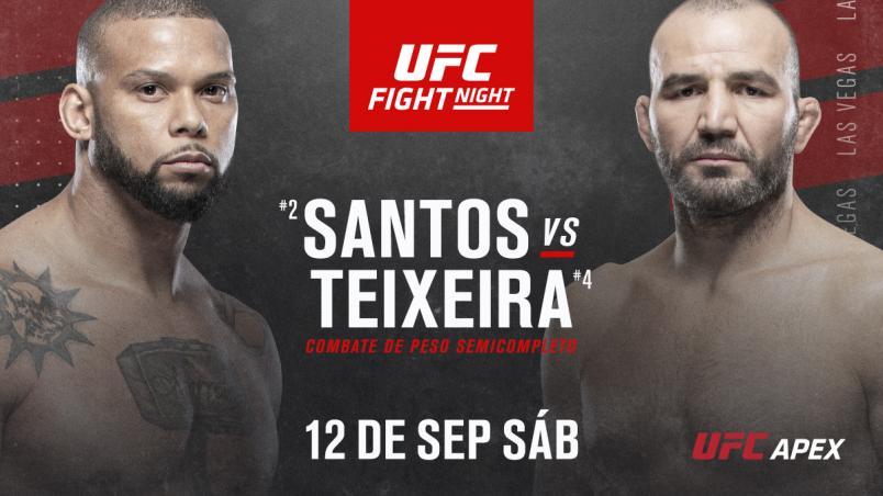 Thiago Santos vs Glover Teixeira spanish announcement