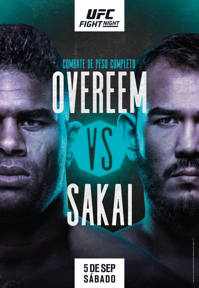 Alistair Overeem vs Augusto Sakai poster Spanish