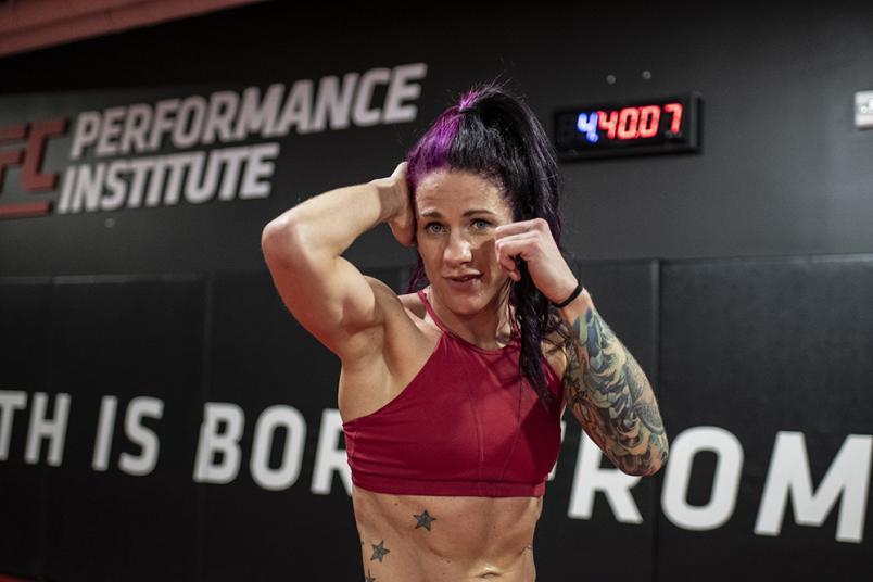 Gina Mazany at the UFC Performance Institute during UFC Vegas 15