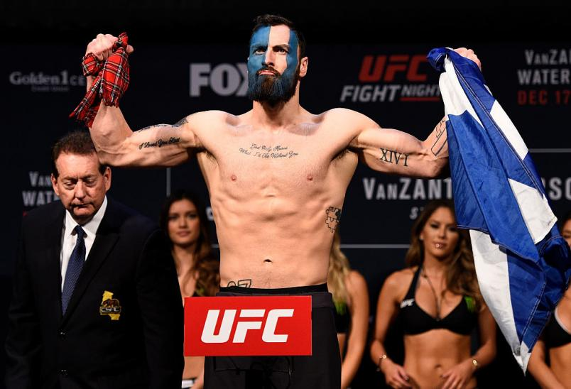 SACRAMENTO, CA - DECEMBER 16:  Paul Craig of Scotland poses on the scale during the UFC Fight Night weigh-in inside the Golden 1 Center Arena on December 16, 2016 in Sacramento, California. (Photo by Jeff Bottari/Zuffa LLC/Zuffa LLC via Getty Images)