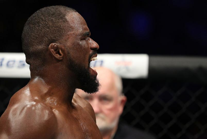 Corey Anderson celebrates after his TKO victory over Sean O'Connell on December 9, 2016 in Albany, New York. (Photo by Patrick Smith/Zuffa LLC)