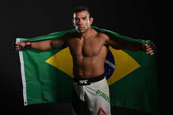 CHICAGO, IL - JULY 23:  Michel Prazeres of Brazil poses for a post fight portrait backstage during the UFC Fight Night event at the United Center on July 23, 2016 in Chicago, Illinois. (Photo by Mike Roach/Zuffa LLC/Zuffa LLC via Getty Images)