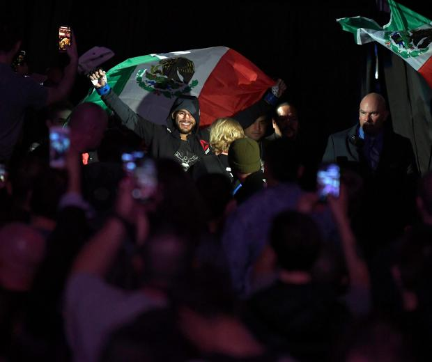 DENVER, CO - NOVEMBER 10: Yair Rodriguez of Mexico enters the arena prior to facing Chan Sung Jung of South Korea in their featherweight bout during the UFC Fight Night event inside Pepsi Center on November 10, 2018 in Denver, Colorado. (Photo by Josh Hedges/Zuffa LLC/Zuffa LLC via Getty Images)