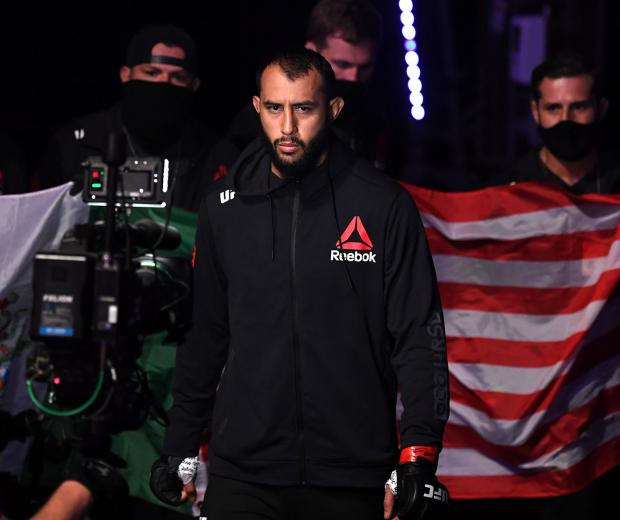 Dominick Reyes prepares to face Jan Blachowicz of Poland in their light heavyweight championship bout during UFC 253 inside Flash Forum on UFC Fight Island on September 27, 2020 in Abu Dhabi, United Arab Emirates. (Photo by Josh Hedges/Zuffa LLC)