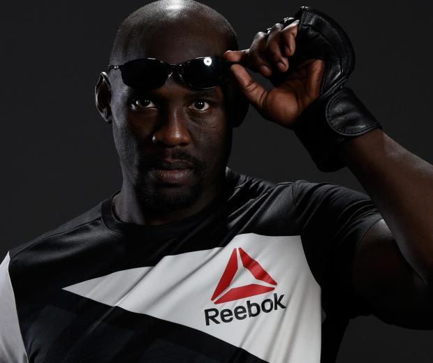 Jared Cannonier poses for a portrait backstage after his victory over Nick Roehrick during The Ultimate Fighter Finale at T-Mobile Arena on July 7, 2017 in Las Vegas, Nevada. (Photo by Mike Roach-Zuffa LLC-Zuffa LLC via Getty Images)