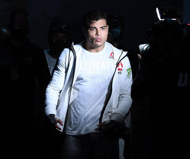 Paulo Costa of Brazil enters the arena prior to facing Israel Adesanya of Nigeria in their middleweight championship bout during UFC 253 inside Flash Forum on UFC Fight Island on September 27, 2020 in Abu Dhabi, United Arab Emirates. (Photo by Josh Hedges/Zuffa LLC)