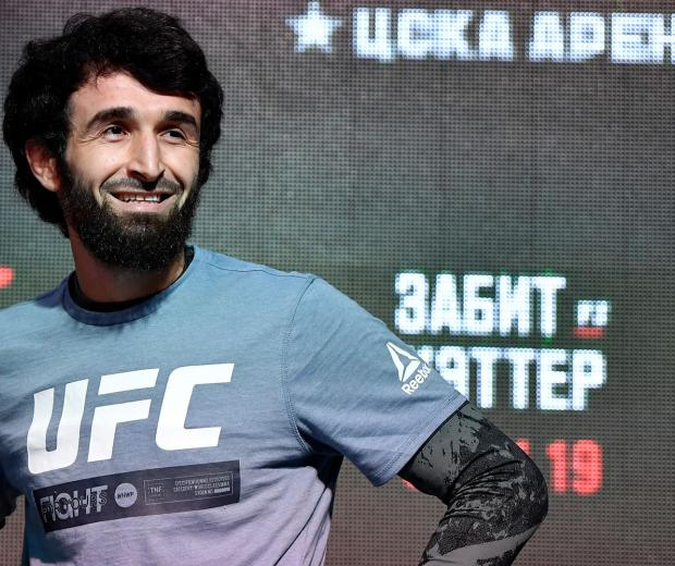 Zabit Magomedsharipov of Russia holds an open training session for fans and media during UFC Fight Night open workouts at Arbat Hall on November 6, 2019 in Moscow, Russia. (Photo by Jeff Bottari/Zuffa LLC)