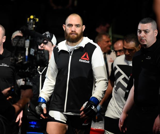 Travis Browne enters the arena prior to facing Derrick Lewis in their heavyweight fight during the UFC Fight Night event inside the Scotiabank Centre on February 19, 2017 in Halifax, Nova Scotia, Canada. (Photo by Josh Hedges/Zuffa LLC)