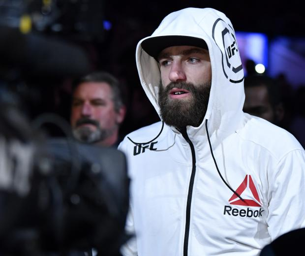 Michael Chiesa prepares to fight Rafael Dos Anjos in their welterweight fight during the UFC Fight Night event at PNC Arena on January 25, 2020 in Raleigh, North Carolina. (Photo by Jeff Bottari/Zuffa LLC)