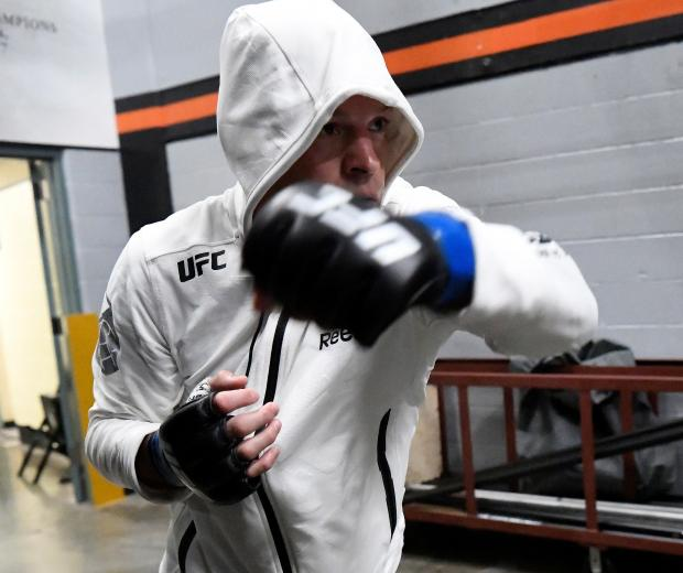 Nate Diaz waits backstage during the UFC 241 event at the Honda Center on August 17, 2019 in Anaheim, California. (Photo by Mike Roach/Zuffa LLC)