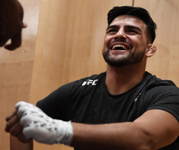 Kelvin Gastelum has his hands wrapped backstage during the UFC 244 event at Madison Square Garden on November 02, 2019 in New York City. (Photo by Mike Roach/Zuffa LLC)