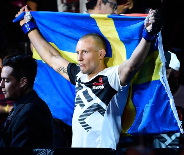 Jack Hermansson of Sweden prepares to enter the Octagon before facing Bradley Scott of England in their middleweight bout during the UFC Fight Night event at Arena Ciudad de Mexico on August 5, 2017 in Mexico City, Mexico. (Photo by Jeff Bottari/Zuffa LLC)