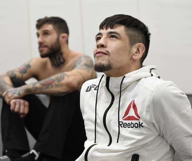 Brandon Moreno of Mexico warms up backstage during the UFC 256 event at UFC APEX on December 12, 2020 in Las Vegas, Nevada. (Photo by Mike Roach/Zuffa LLC)