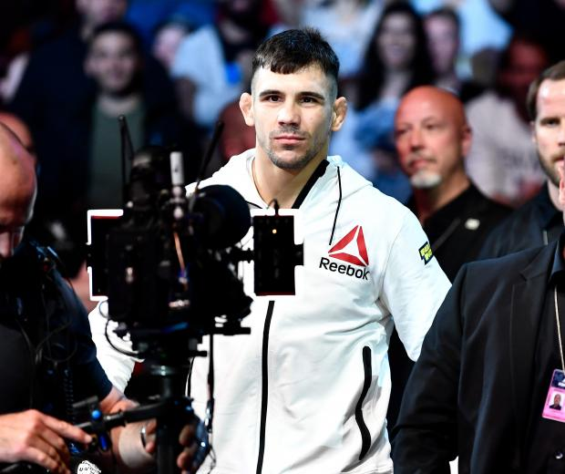 Aleksandar Rakic of Austria prepares to enter the Octagon prior to his light heavyweight bout against Jimi Manuwa of England during the UFC Fight Night event at Ericsson Globe on June 1, 2019 in Stockholm, Sweden. (Photo by Jeff Bottari/Zuffa LLC)