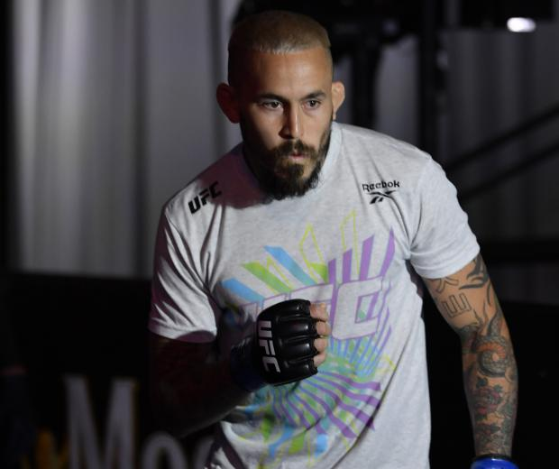 Marlon Vera of Ecuador prepares to fight Sean O'Malley in their bantamweight bout during the UFC 252 event at UFC APEX on August 15, 2020 in Las Vegas, Nevada. (Photo by Jeff Bottari/Zuffa LLC)
