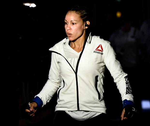 Marion Reneau prepares to fight Raquel Pennington in their bantamweight bout during the UFC Fight Night event at UFC APEX on June 20, 2020 in Las Vegas, Nevada. (Photo by Chris Unger/Zuffa LLC)