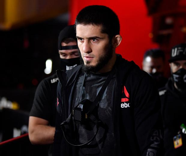Islam Makhachev prepares to fight Drew Dober in their lightweight fight during the UFC 259 event at UFC APEX on March 06, 2021 in Las Vegas, Nevada. (Photo by Chris Unger/Zuffa LLC)