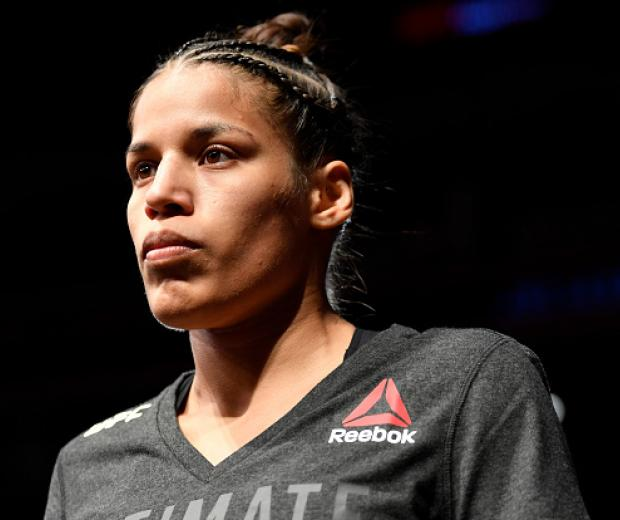 Julianna Pena prepares to fight Nico Montano in their women's bantamweight bout during the UFC Fight Night event at Golden 1 Center on July 13, 2019 in Sacramento, California. (Photo by Jeff Bottari/Zuffa LLC)