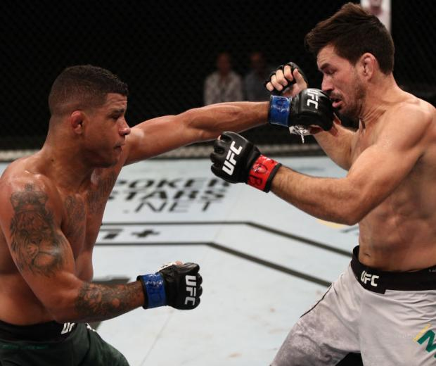 Gilbert Burns Punches Demian Maia at UFC Brasilia