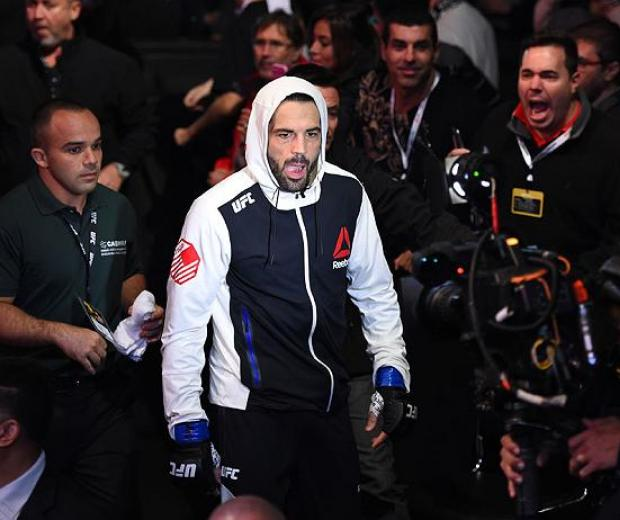 CURITIBA, BRAZIL - MAY 14:  Matt Brown enters the stadium before facing Demian Maia of Brazil in their welterweight bout during the UFC 198 event at Arena da Baixada stadium on May 14, 2016 in Curitiba, Parana, Brazil.  (Photo by Josh Hedges/Zuffa LLC/Zuf